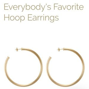 Everybody's Favorite Hoops Brushed Champagne Gold